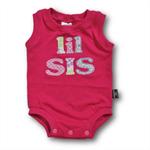 SIZE 00 (3-6mths) Handmade Baby Sleeveless Bodysuit... LIL SIS