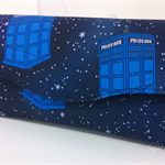 Necessary Clutch Purse/Wallet - Flying Police Boxes