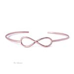 Rose gold infinity cuff bracelet