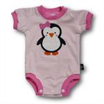 SIZE 00 (3-6mths) Handmade Baby Bodysuit... Penguin