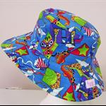 Toddler Hat ~ OOAK ~ Bright Kites ~ Wide Brim