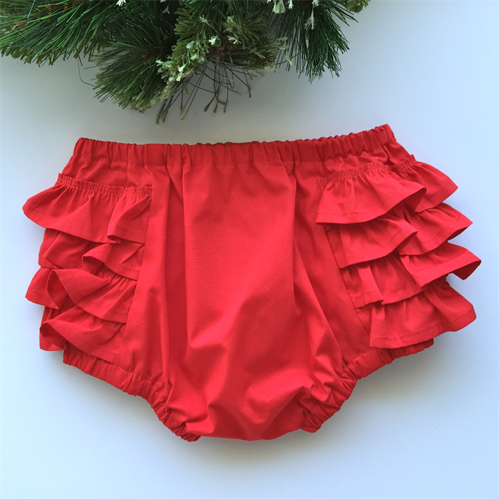 Baby Girl Red Frilly Bloomers, Christmas, shorts, nappy pants ...