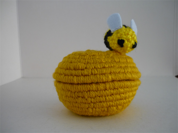 Bee box, ring, trinket bowl crochet and coil basket | 3 ...