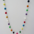 Bright Rainbow Felt Ball Garland