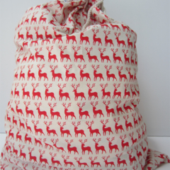 Reindeer Christmas Santa Sack
