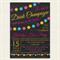 Glitter Hens Bachelorette Birthday Party Digital Invitation