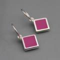 Reversible Sterling Silver resin Earrings