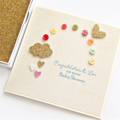 Luxury Baby Card | Baby Shower | Girl Boy Neutral | Rainbow Boxed