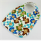 Baby Infant Dribble and Feeder Bib Monkey Cotton Fabric and Bamboo Toweling