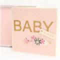 Handmade Baby Girl Card, Luxury Keepsake Baby Girl Card, Gift Boxed, Vintage