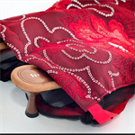 Red Floral Lace Gift or Travel Bag