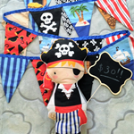 Pirate Softie & Bunting Set