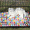 Pet quilted cage liner . Pet bed . Cat print fabric .