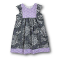 SIZE 4 Grey/Mauve Cotton Dress