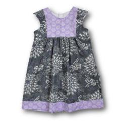 SIZE 4 Grey/Mauve Cotton Dress