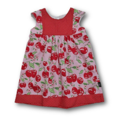 SIZE 1 Pink Cherries Cotton Playgroup Dress