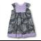 SIZE 4 Grey/Mauve Cotton Playgroup Dress