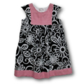 SIZE 2 Black/Pink Cotton Dress