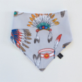 Indian head dress bandana bib