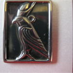 Free Shipping. Black Metal pendant comes with free chain.
