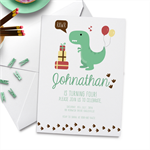 10 x Boy Birthday Party Invitation, Dinosaur Theme Party