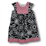 SIZE 2 Black/Pink Cotton Playgroup Dress