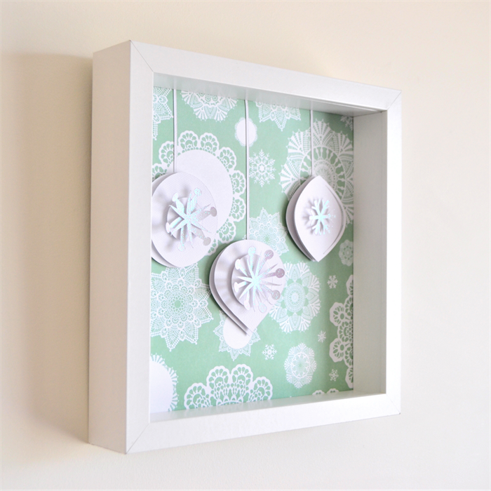 Wall Decoration By Paper Cutting : D paper cut wall art christmas baubles vicky pedlow
