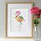 Flamingo A4 Print / Wall Art