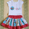 Christmas Outfit, Skirt and Tshirt, size 3