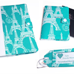 3 Piece Travel Set, Journal, Passport Cover, Luggage Tag