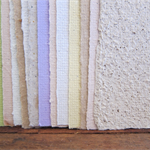 16 Handmade paper sheets, Recycled paper, Craft paper, Scrapbook , 7.5 x 10.5cm