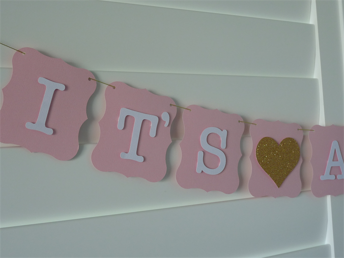 it s a girl banner bunting garland baby shower decoration birth