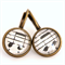 Music Note Antique Bronze Earrings