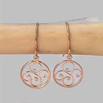 Rose gold earrings, dangle earrings