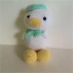 Crocheted duck toy softie