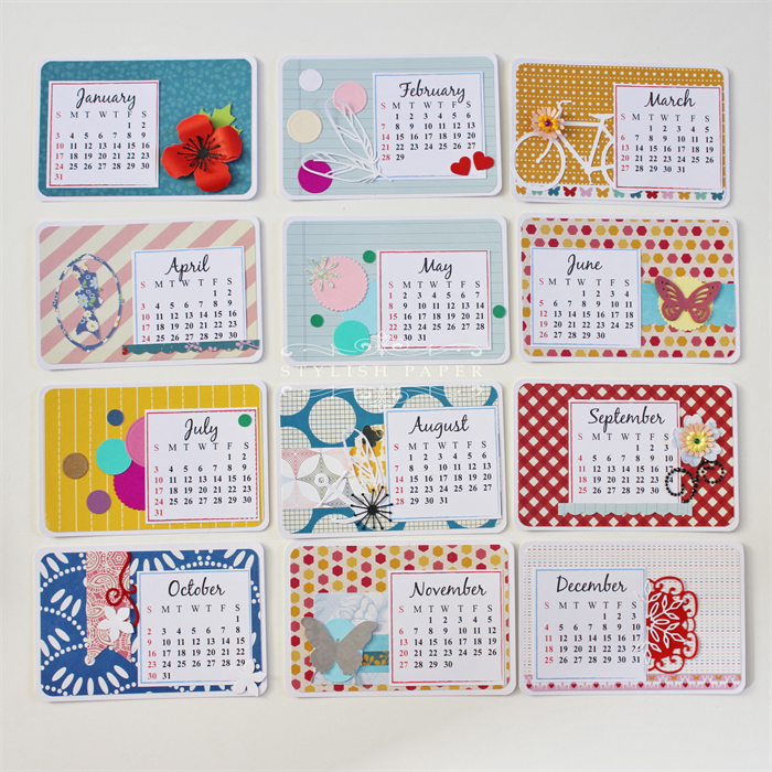 Handmade Calendar Design : Handmade calendar images paper fantasees the craft