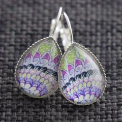 Ari ~ Smaller Teardrop Lever Back Earrings