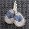 NEW Blue V Stripe ~ Smaller Teardrop Lever Back Earrings