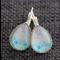 NEW Pastel Honeycomb ~ Smaller Teardrop Lever Back Earrings