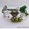 Green and Silver Memory Wire Bracelet