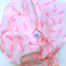 Baby Wrap/Swaddling Blanket Neon Pink Feather Print Muslin, extra large