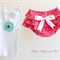 Ruffle bloomers with doily singlet and matching headband (size 000)