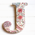 Mosaic letter   J   wall decoration includes postage