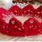 Red Christmas Crown // photo prop //  headband