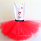 Red Christmas tutu set (6 - 12 months old) // Baby's first Christmas