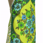 Metro Retro Blue Green Flowers Vintage Kitchen Apron. Birthday Xmas Gift