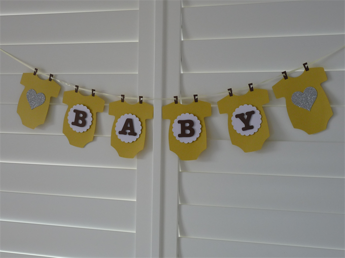 Baby Boy Or Girl Onesie Banner Bunting Party Decoration Baby