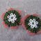 Christmas Coloured Flower Beaded Earrings