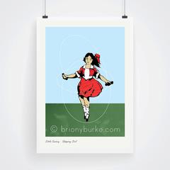 Skipping Girl Vinegar, Melbourne Print 11x14 inches