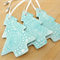 Christmas decorations, ornaments. Ceramic turquoise trees. Teachers gift.